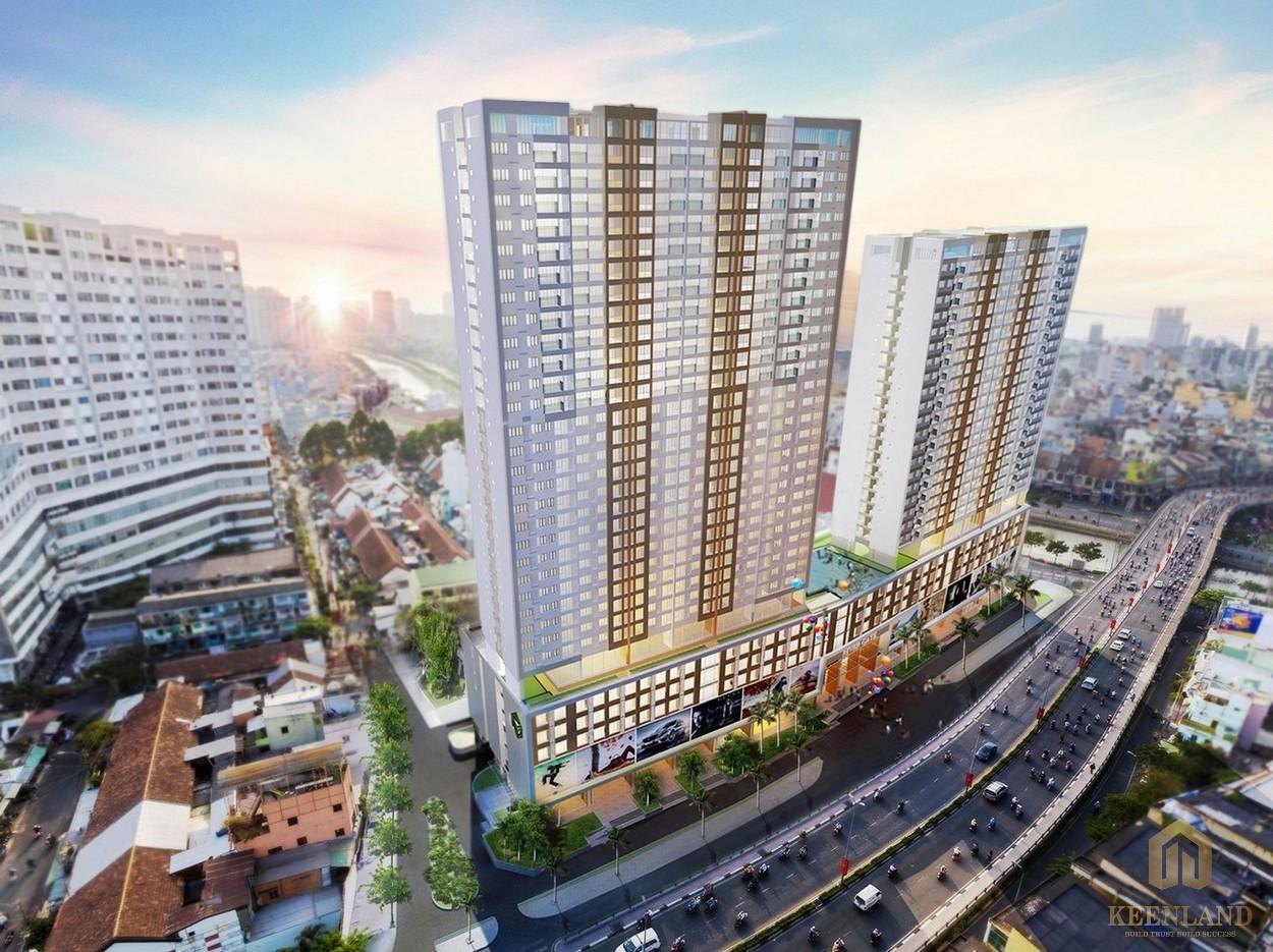 Phối cảnh tổng thể dự án căn hộ chung cư Rivergate