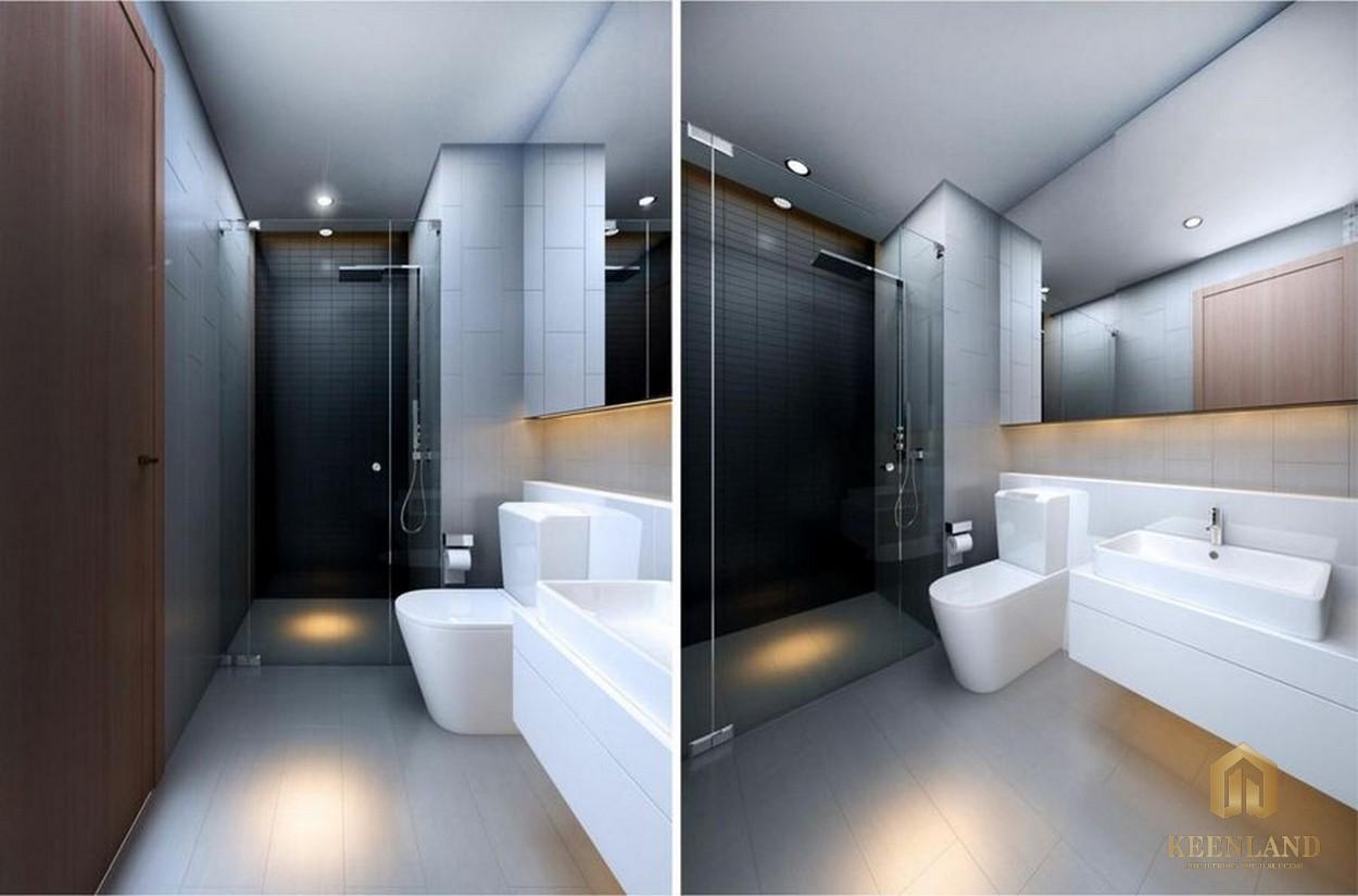 Phòng tắm nhà mẫu căn hộ River Gate Residence