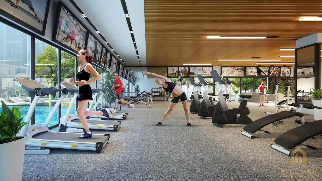 Phòng tập thể dục, thể thao: yoga, gym,... mô phỏng tại Honas Residence