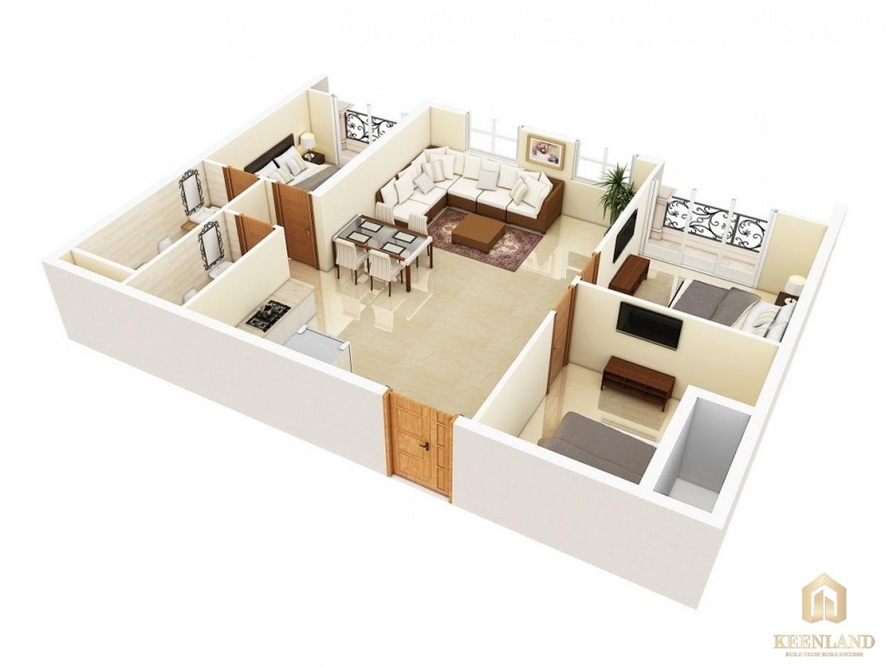 Thiết kế chi tiết căn hộ Grand Riverside Quận 4