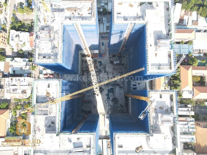 tiến độ xây dựng dự án căn hộ Bcons Garden tháng 05