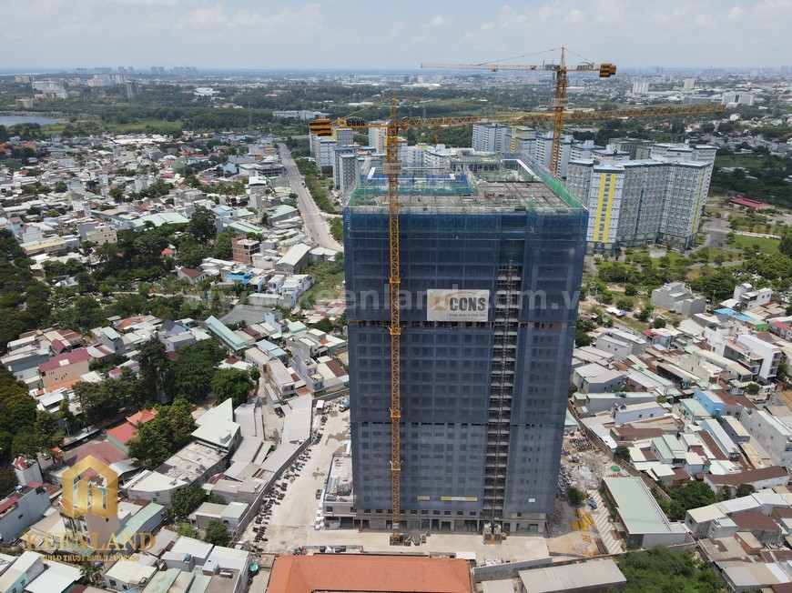 Tiến độ xây dựng Bcons Green View tháng 05