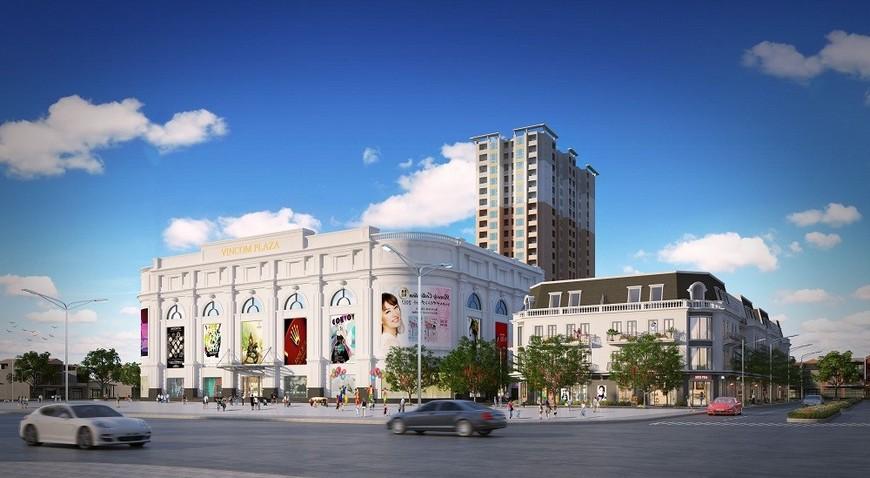 Vincom Plaza liền kề vị trí dự án căn hộ Bcons Sala