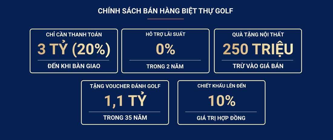 Chính sách bán biệt thự Golf NovaWorld Phan Thiết