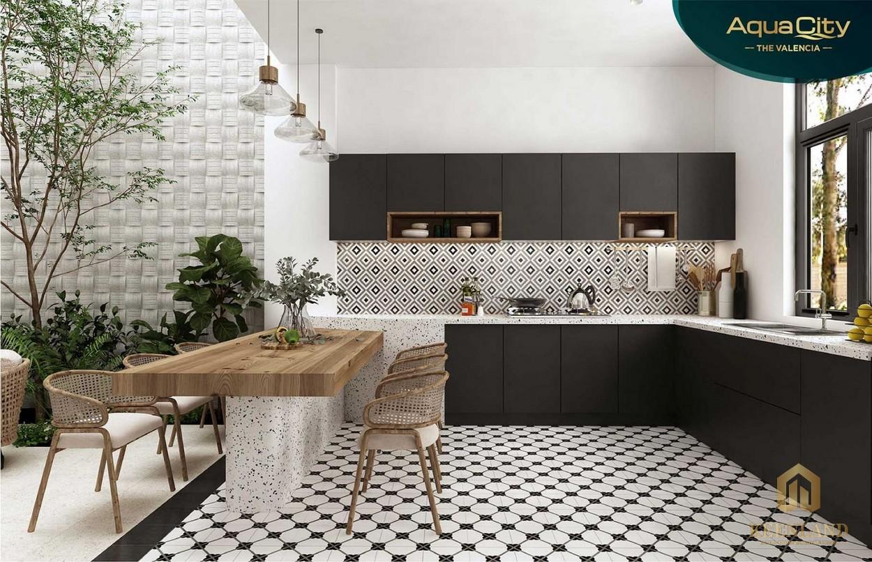 Phòng bếp của biệt thự Aqua City Novaland Đồng Nai