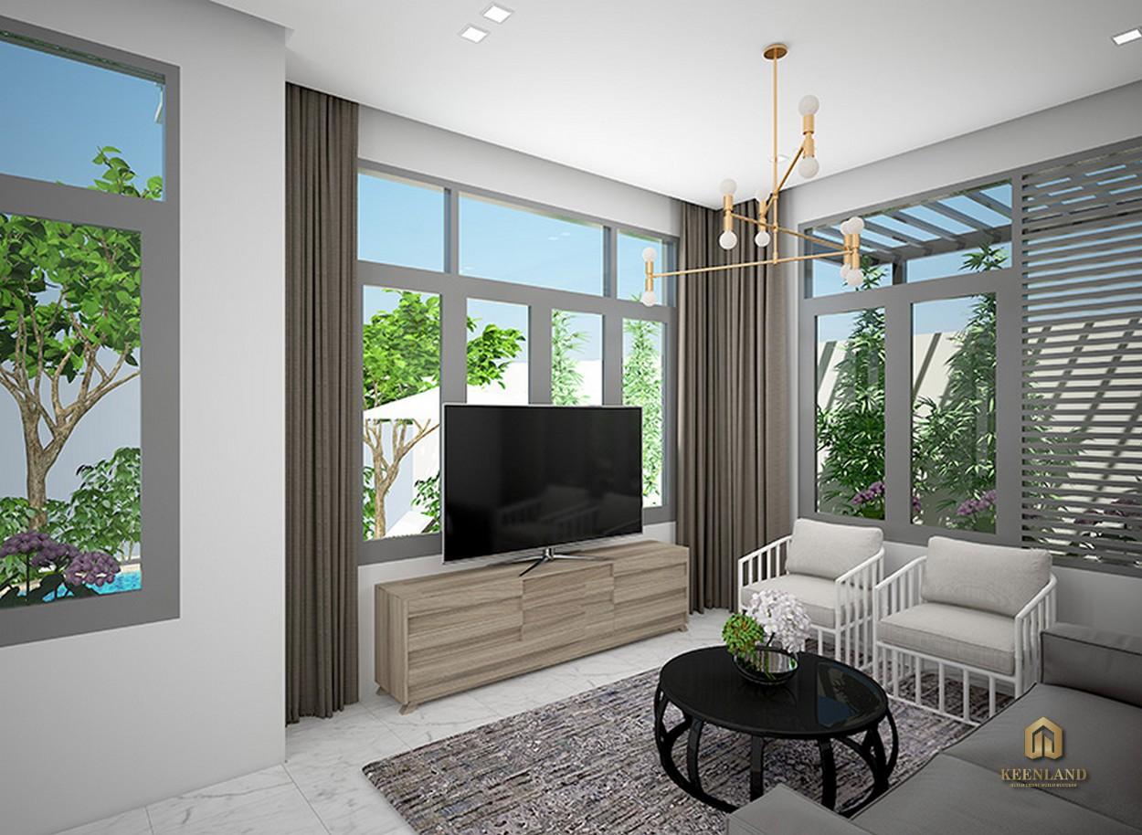 Nhà mẫu dự án MT Eastmark City Quận 9 - Phòng khách