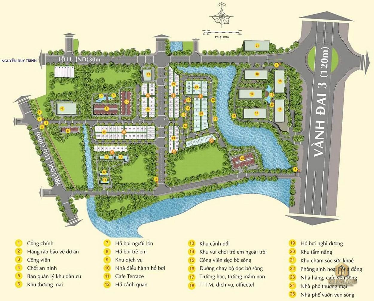 Mặt bằng tiện ích dự án MT Eastmark City Quận 9