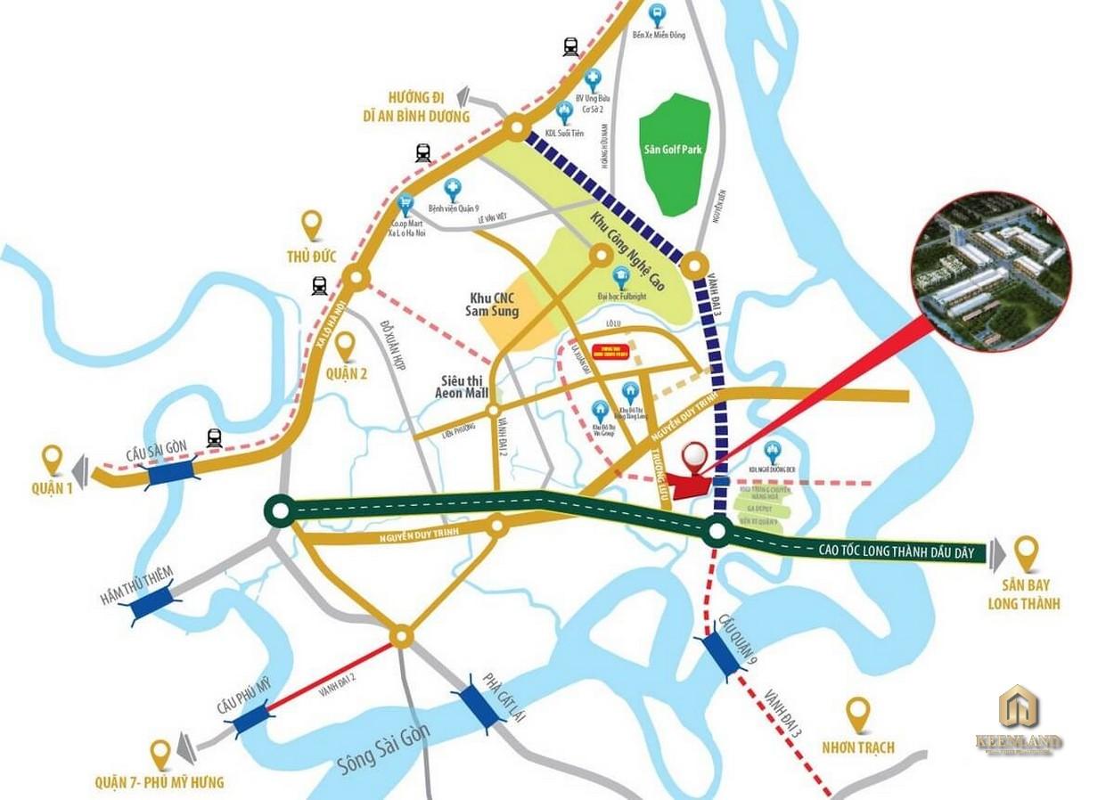 Vị trí dự án căn hộ MT Eastmark City Quận 9