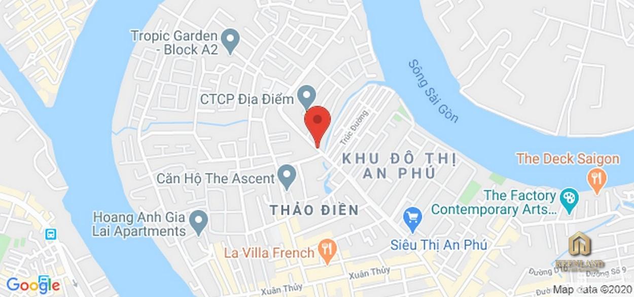 Vị trí địa chỉ dự án căn hộ Thảo Điền Green Towers Quận 2