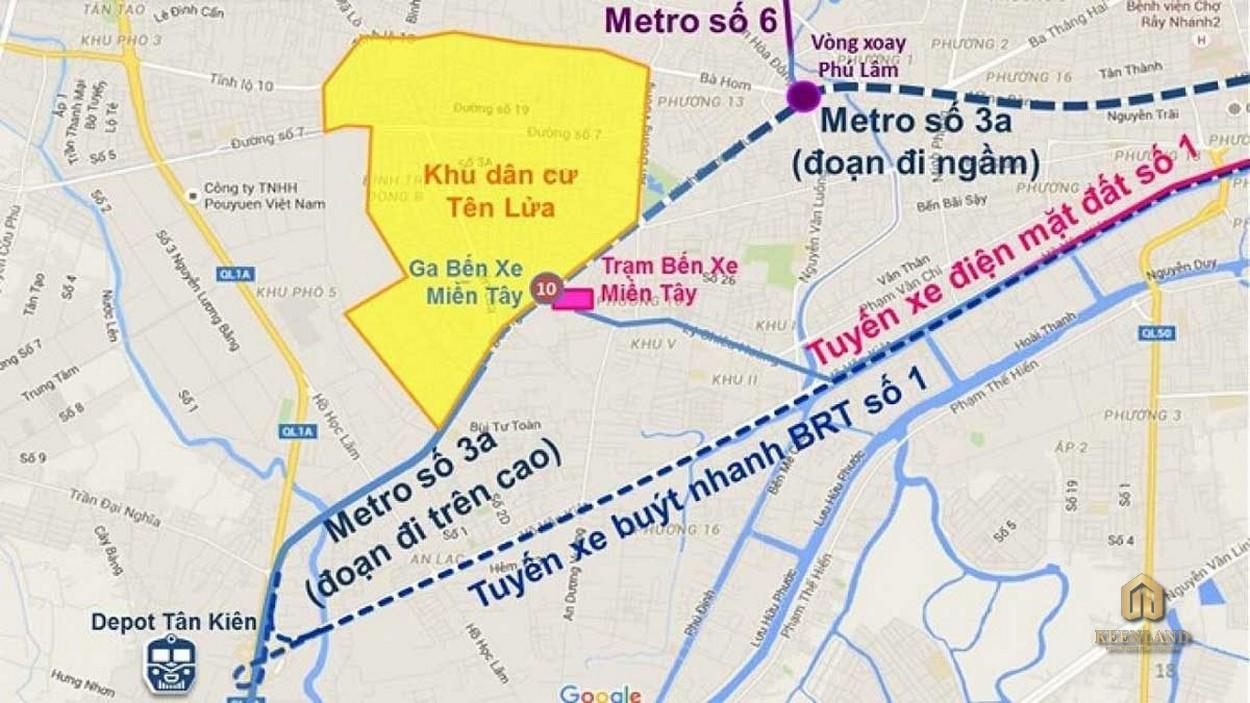 Hạ tầng giao thông xung quanh dự án Uni Park Bình Chánh