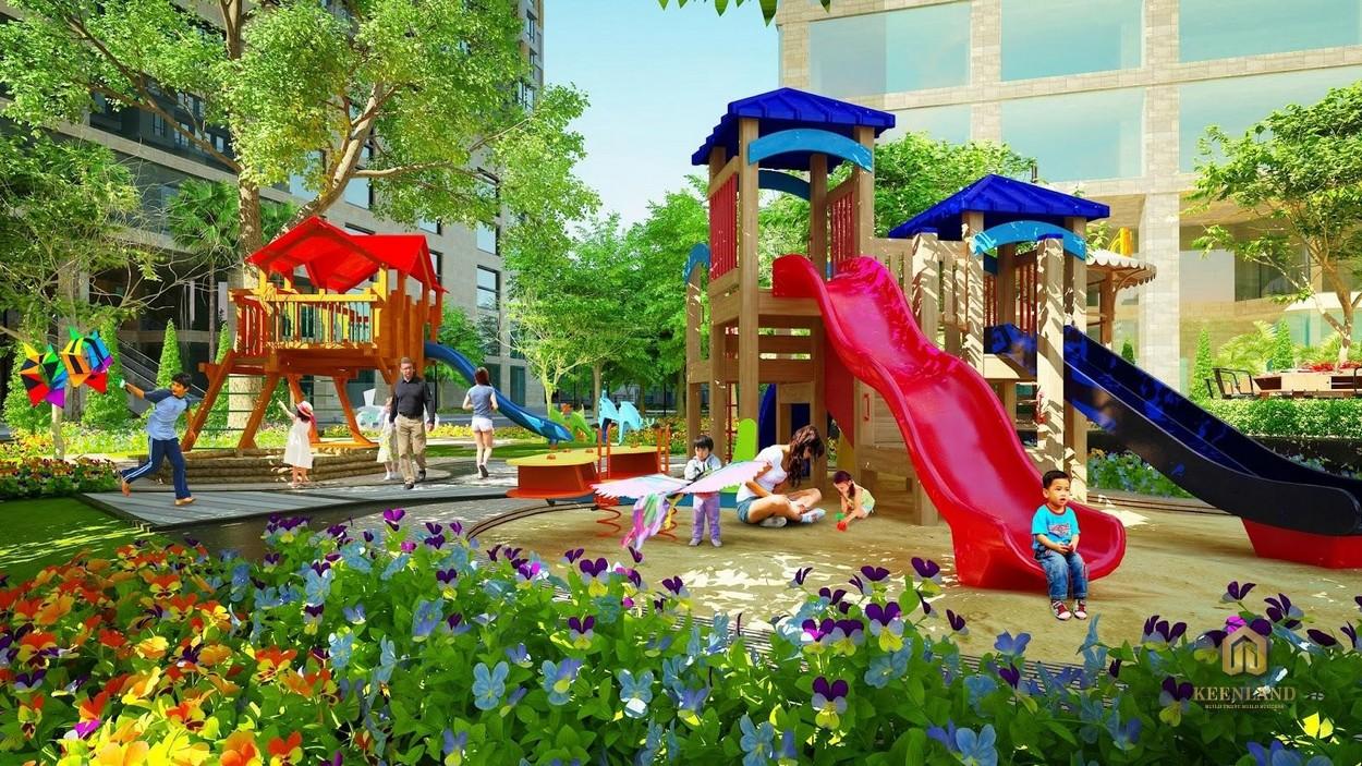 Khu vui chơi trẻ em thuộc tiện ích Uni Park Bình Chánh