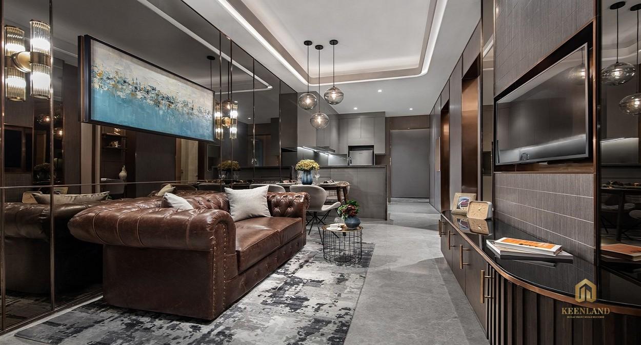 Nhà mẫu dự án Goldora Plaza Nhà Bè - Phòng khách
