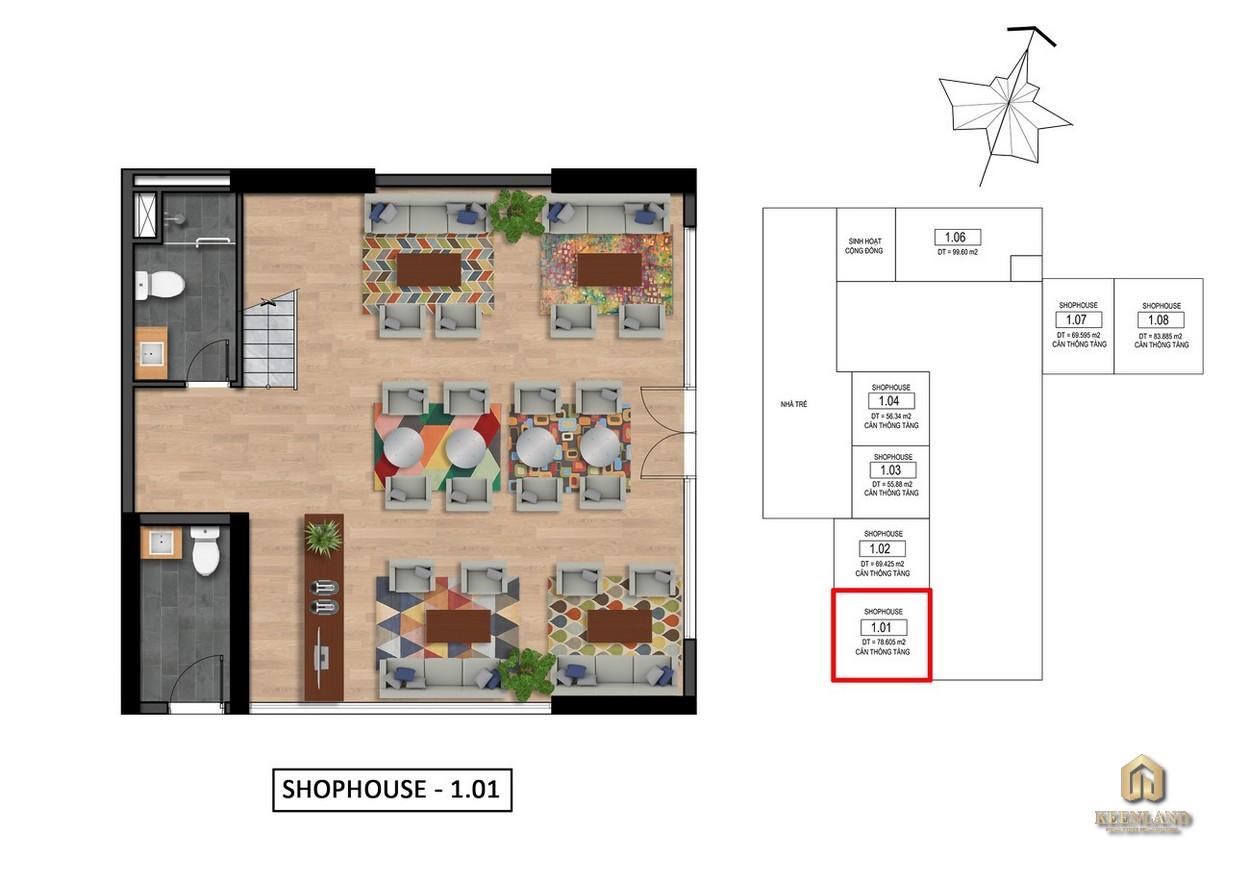 Thiết kế chi tiết Shophouse Goldora Plaza Nhà Bè
