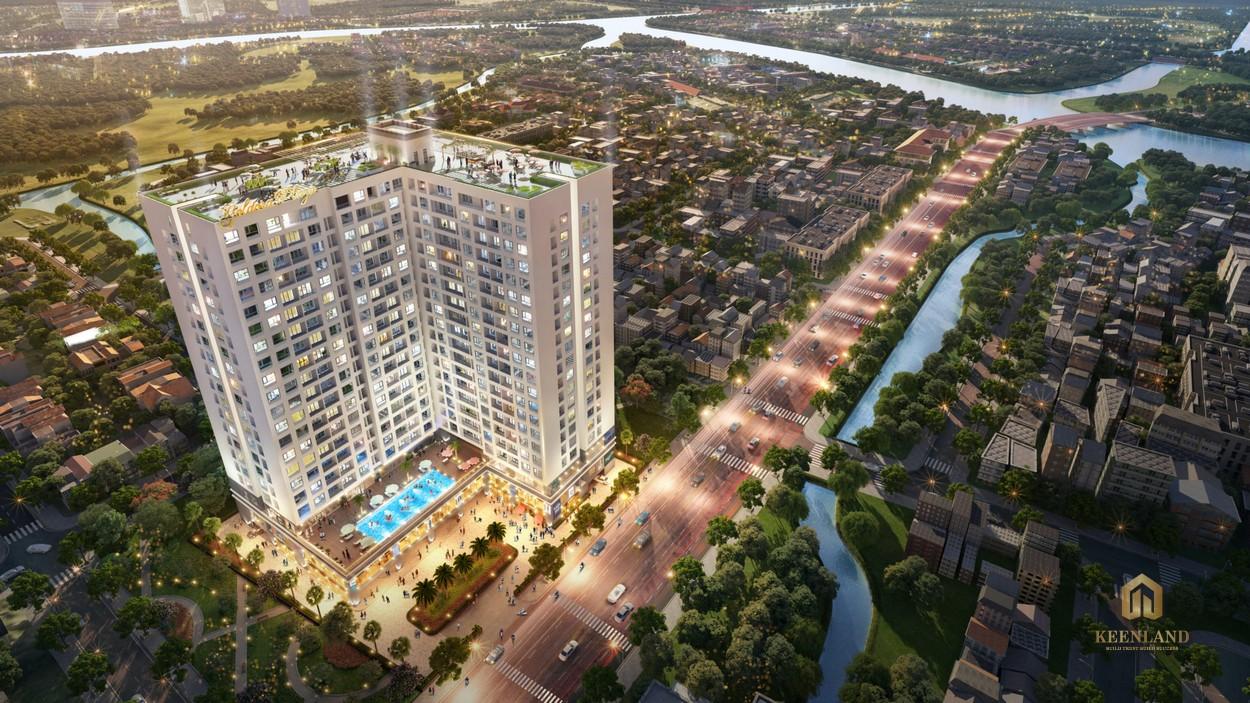 Phối cảnh dự án căn hộ Goldora Plaza Nhà Bè