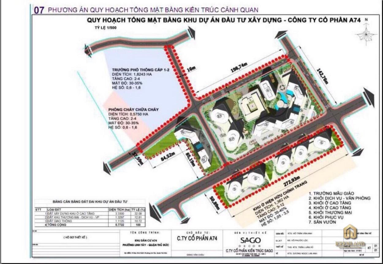 Mặt bằng cảnh quan dự án King Crown City