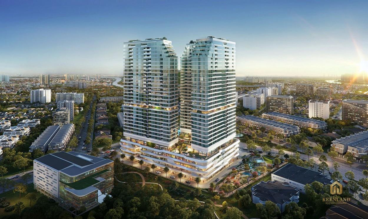 Phối cảnh dự án căn hộ King Crown CityThủ Đức