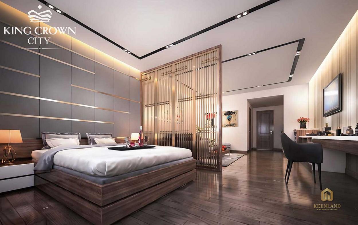 Phòng ngủ Master tại dự án King Crown City