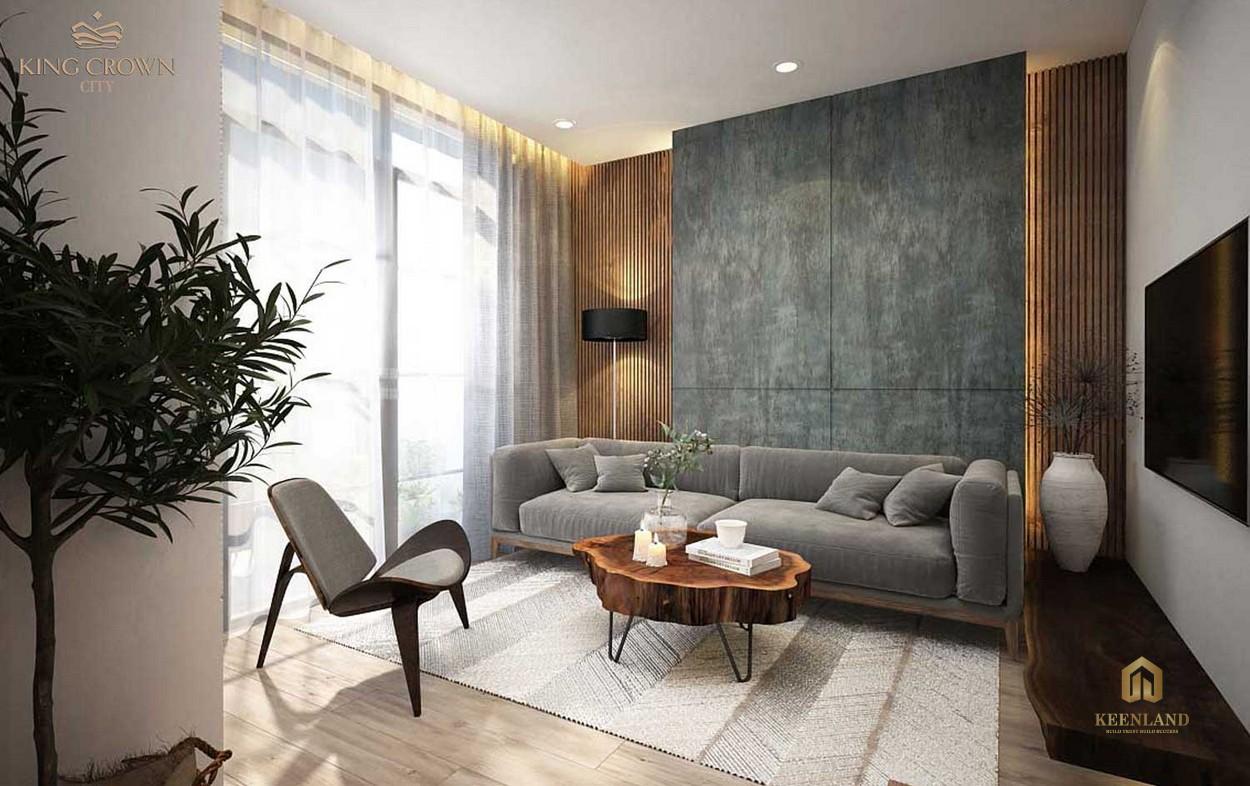Nhà mẫu dự án King Crown City - Phòng khách