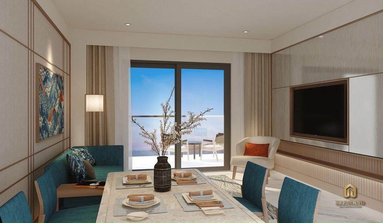 Nhà mẫu dự án Takashi Ocean Suite - Phòng khách