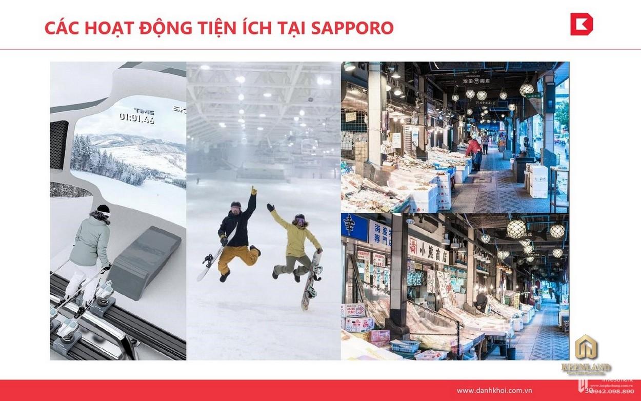 Tiện ích tại phân khu Sapporo của Takashi Ocean Suite Quy Nhơn