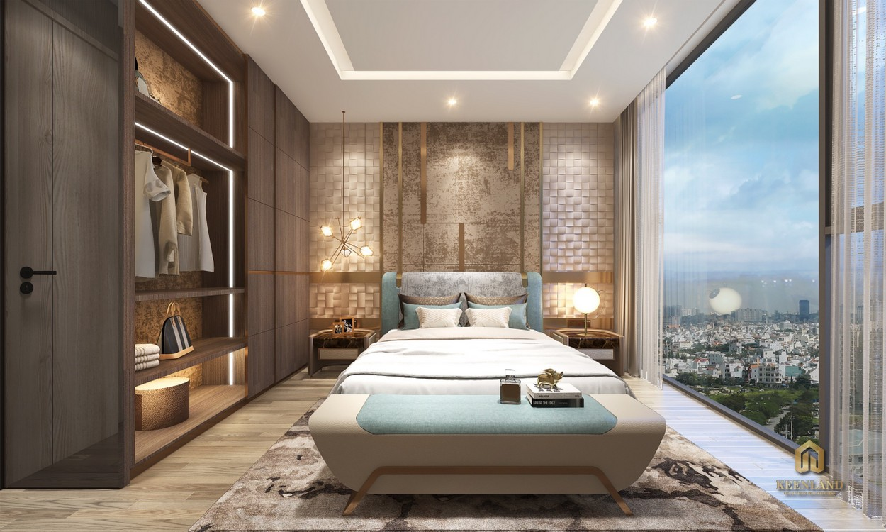 Phòng ngủ Master căn hộ 1PN