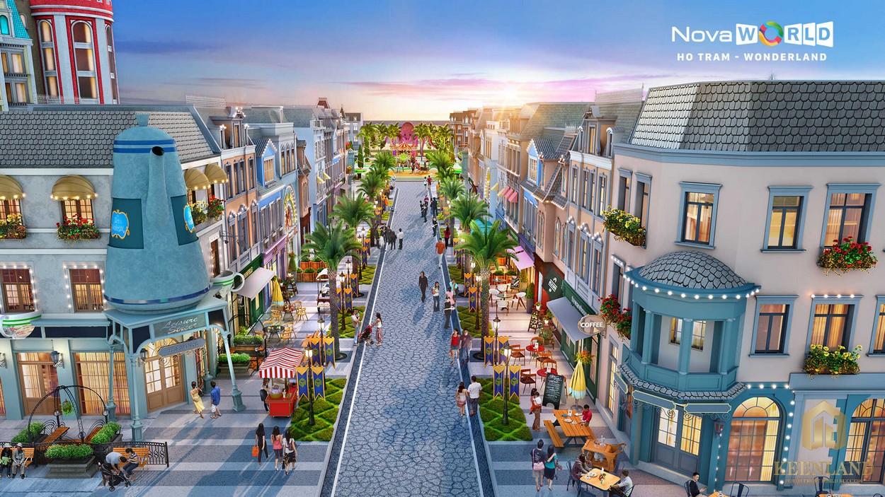 Bản vẽ dự án Novaworld Bình Châu với các căn nhà phố sang trọng