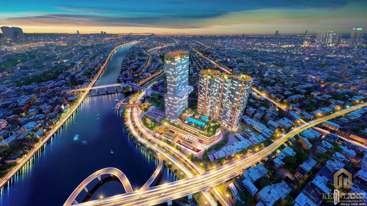 Phối cảnh tổng thể dự án căn hộ chung cư Dragon Riverside City Quận 5 Đường Võ Văn Kiệt
