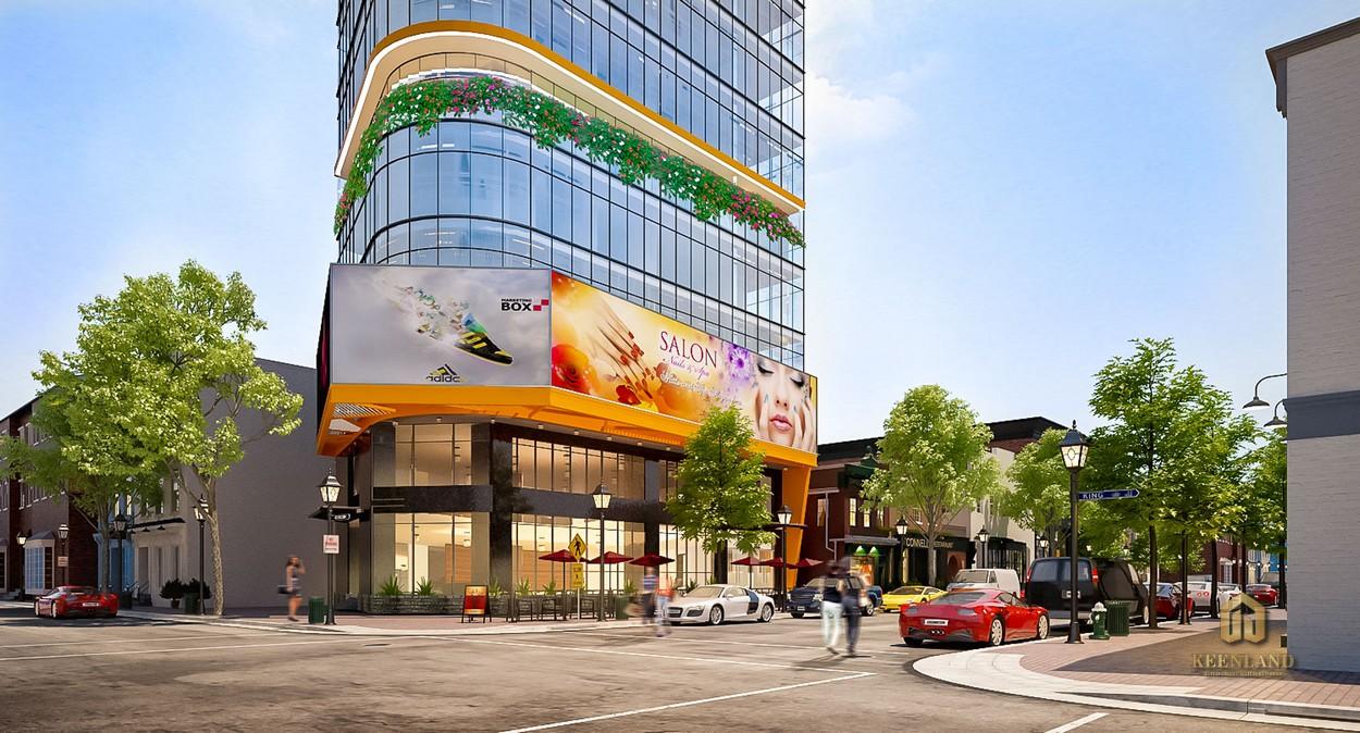 Phối cảnh dự án C.T Plaza Võ Văn Kiệt