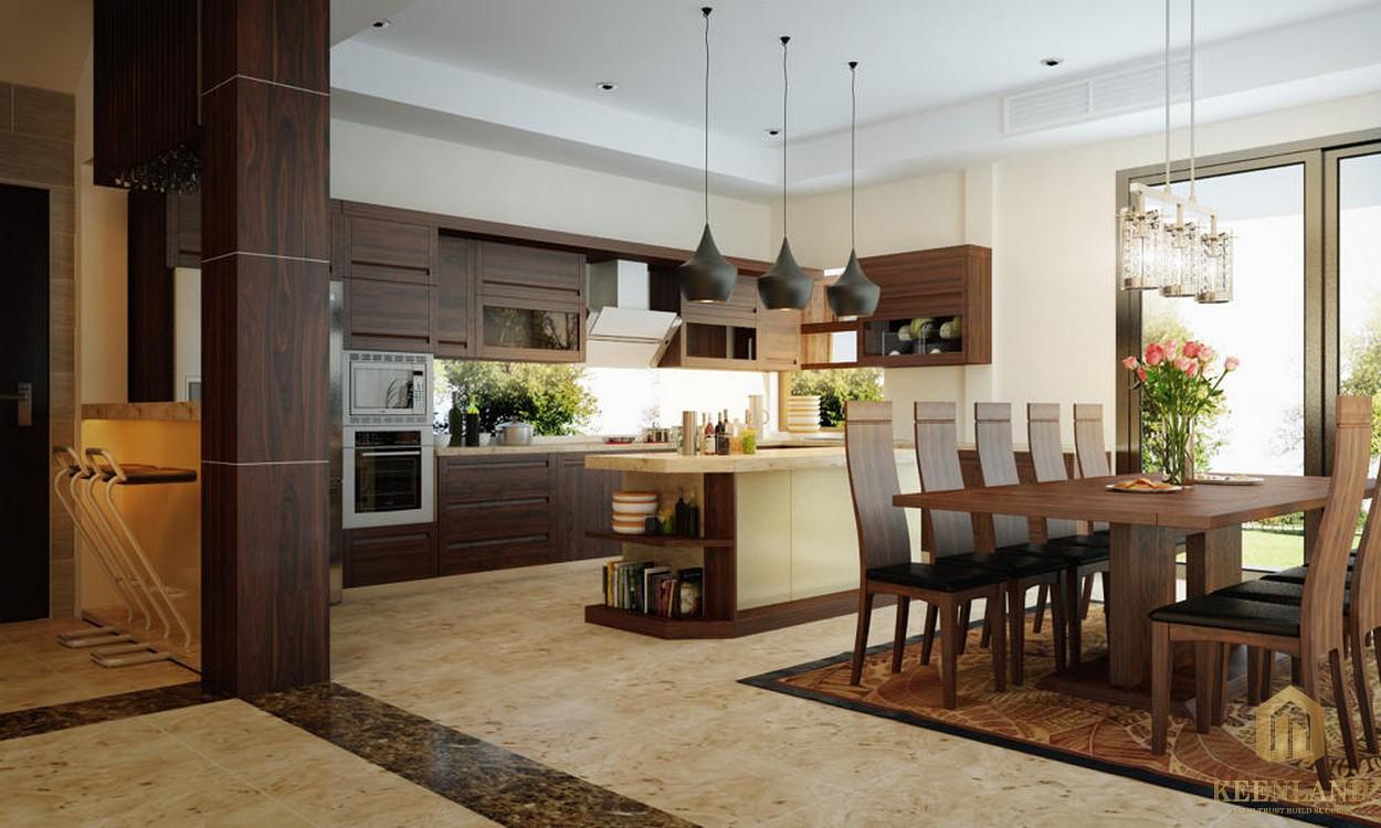 Phòng bếp của căn hộ chung cư Galaxy 9 tập đoàn Novaland