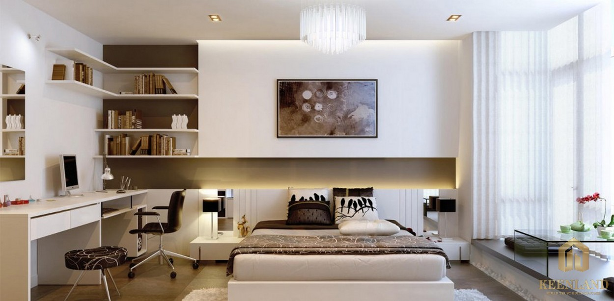 Phòng ngủ của căn hộ chung cư Galaxy 9 tập đoàn Novaland