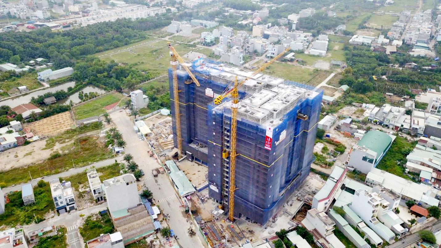 Tiến độ xây dựng dự án Ricca Quận 9 T7/2021