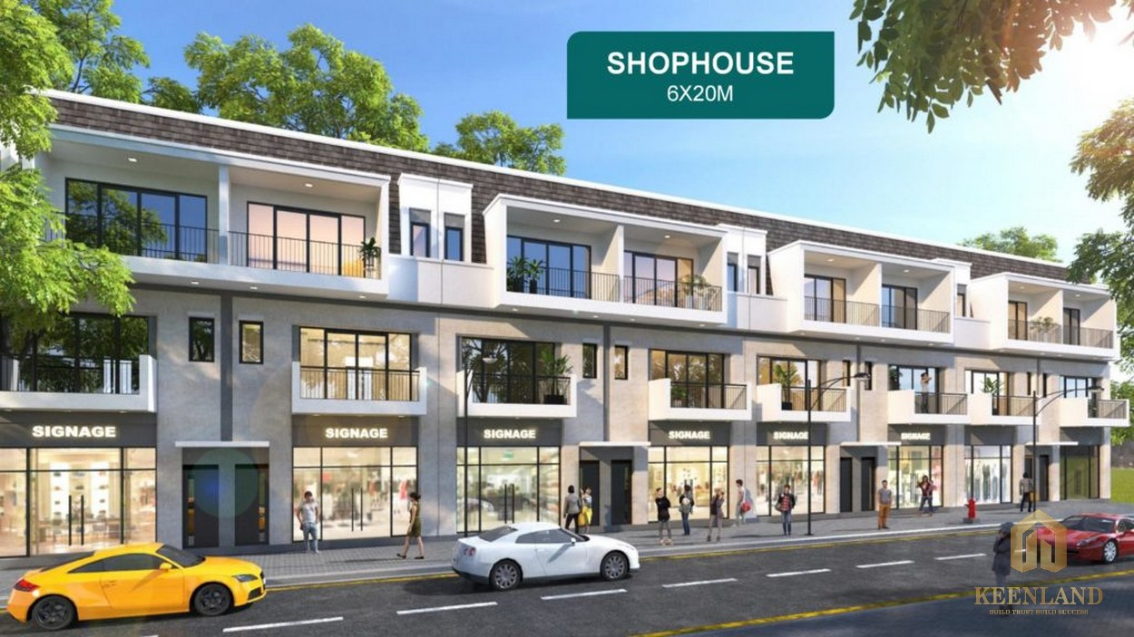 Các căn shophouse tại Aqua City