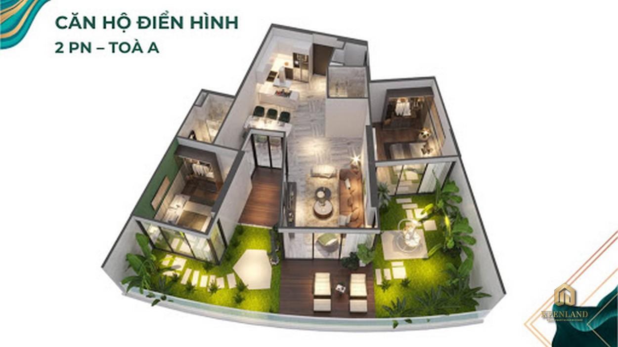 Thiết kế căn hộ 2 PN - Tòa A