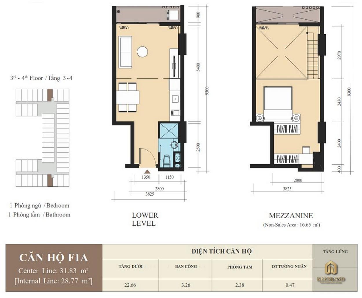 Thiết kế căn hộ F1A