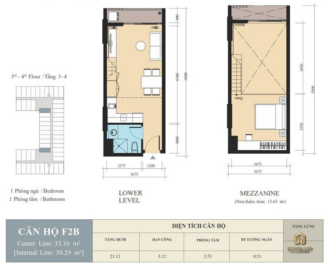 Thiết kế căn hộ F2B