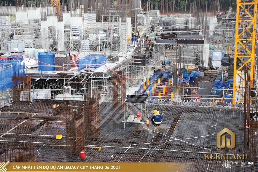 Tiến độ xây dựng dự án Legacy Central tháng 6