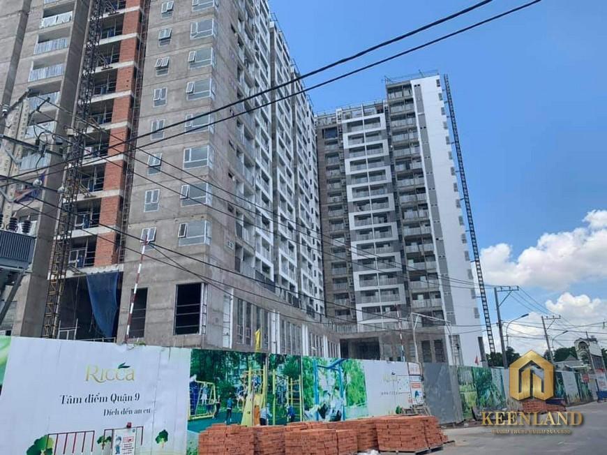 Tiến độ xây dựng dự án Ricca Quận 9 tháng 7