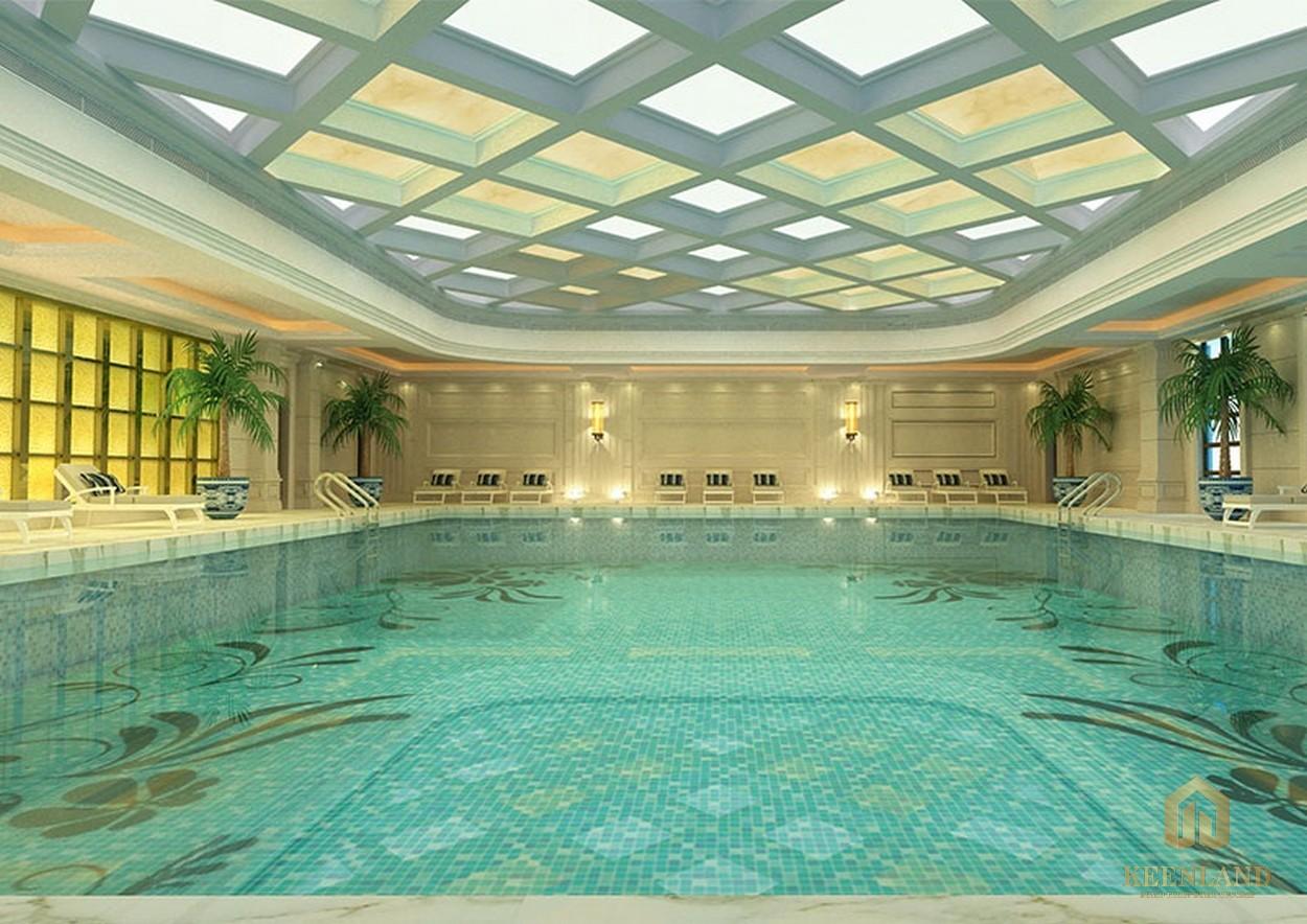 Hồ bơi đẳng cấp ở căn hộ Grand Riverside quận 4