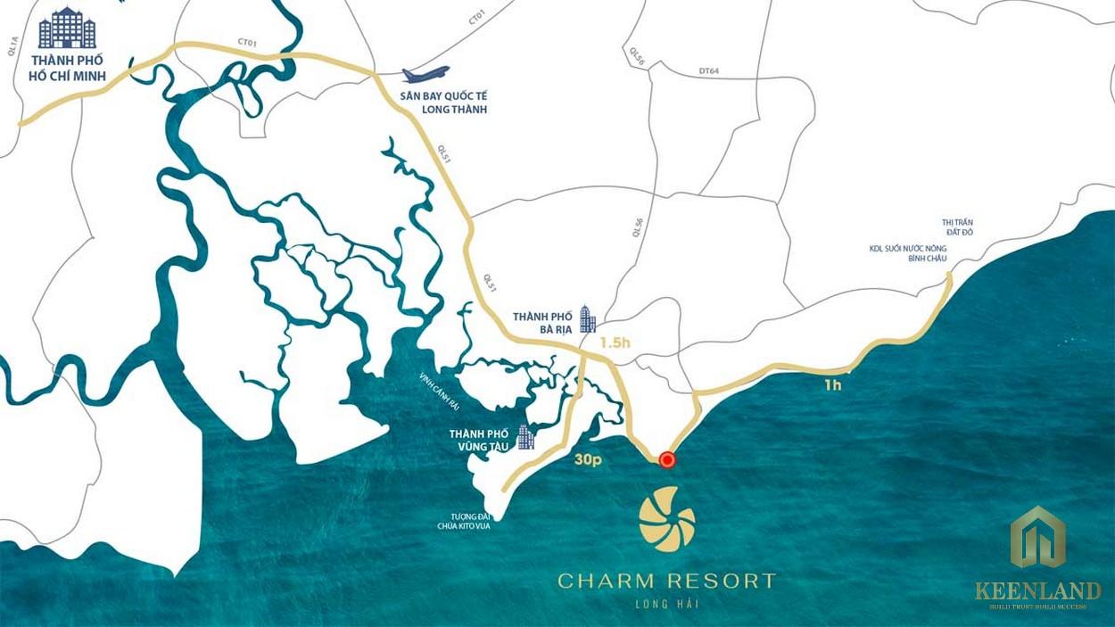Vị trí đắc địa của Resort Charm Long Hải
