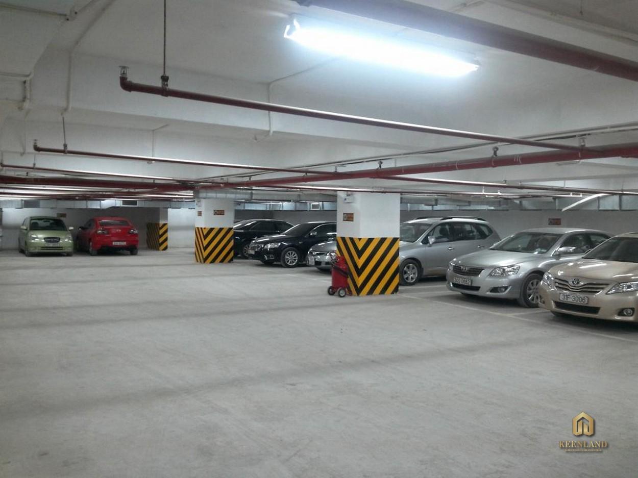 Bãi giữ xe rộng lớn - Tiện ích nội khu dự án chung cư Icon 56