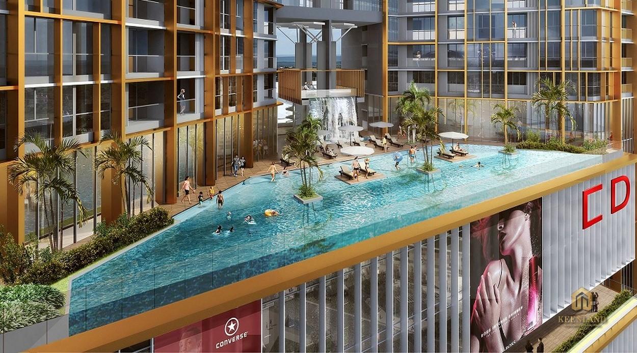 Bể bơi ngoài trời - Tiện ích nội khu dự án Charmington Dragonic