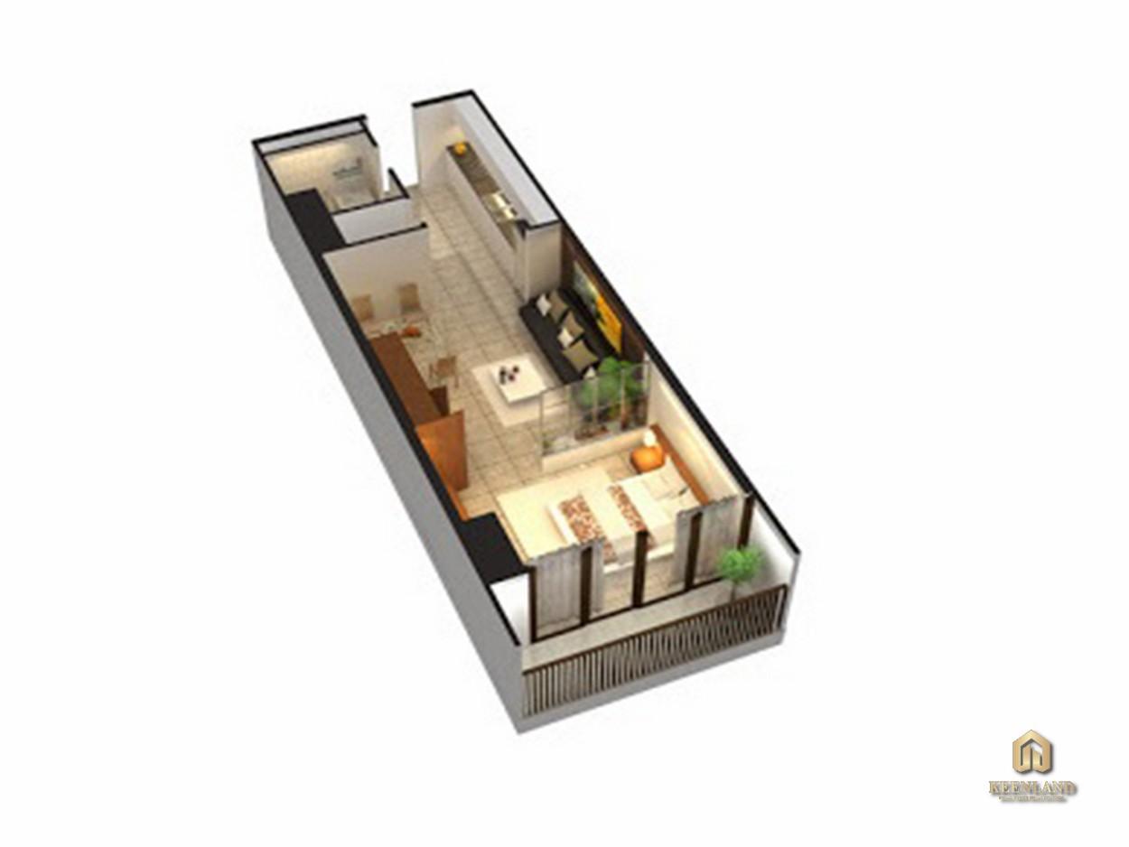 Thiết kế căn hộ An Phú Apartment 1 phòng ngủ