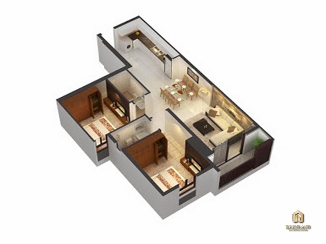 Thiết kế căn hộ An Phú Apartment 2 phòng ngủ