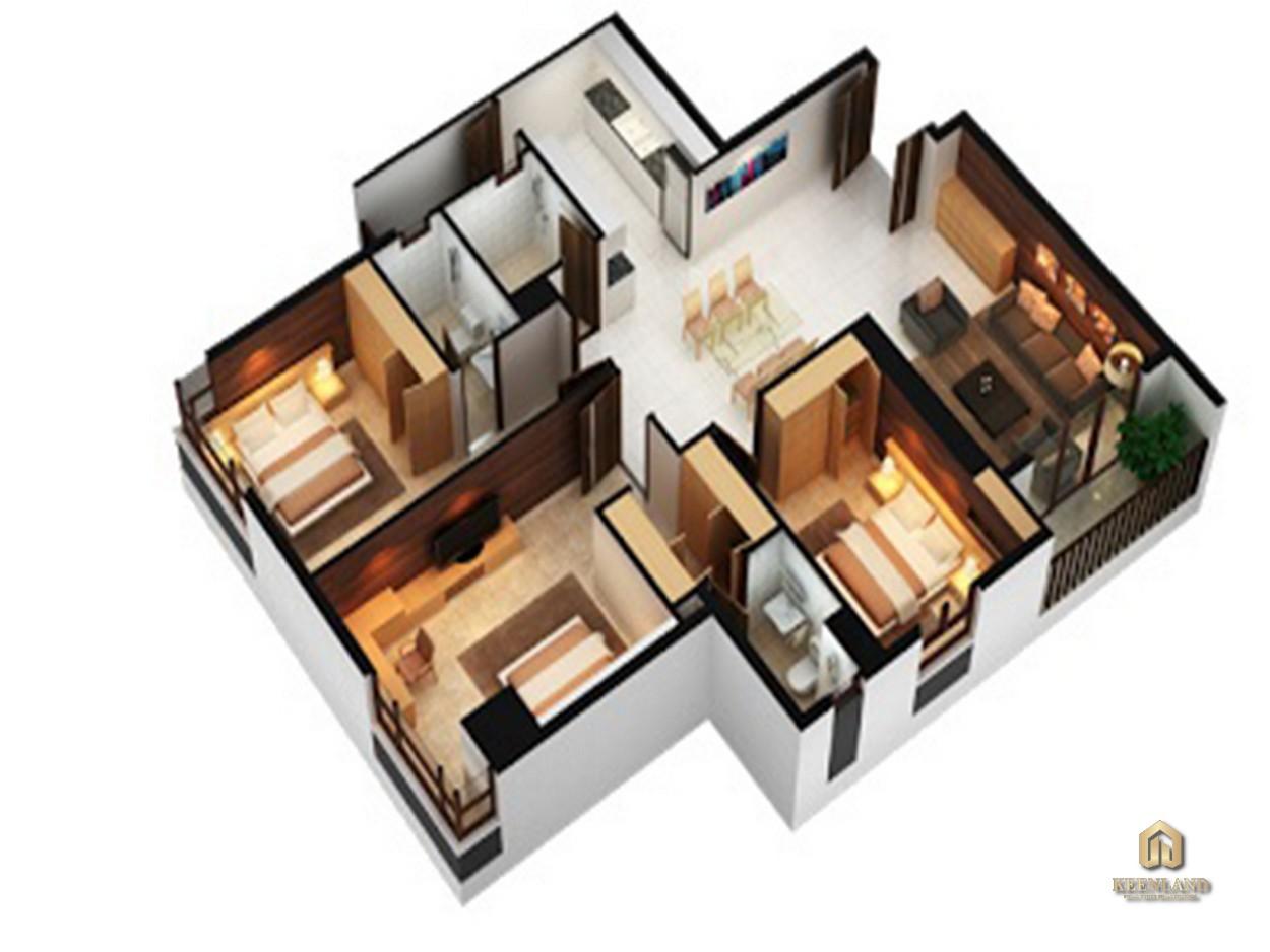 Thiết kế căn hộ An Phú Apartment 3 phòng ngủ
