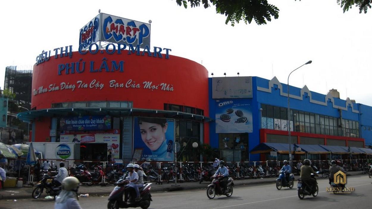 Coopmart Phú Lâm - Tiện ích ngoại khu dự án Viva Riverside Quận 6