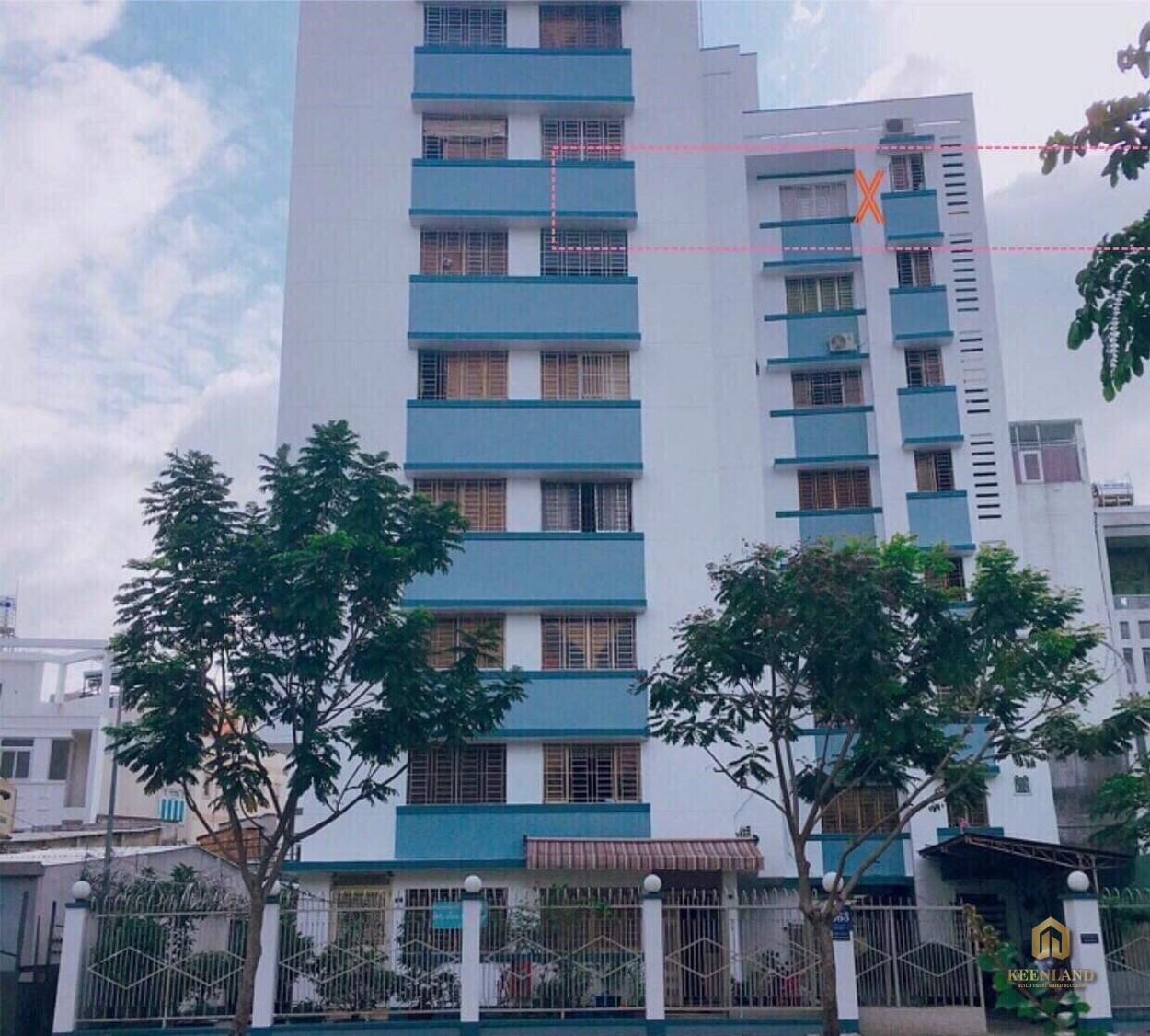 Cận cảnh mặt tiền chung cư 363 Hoàng Sa