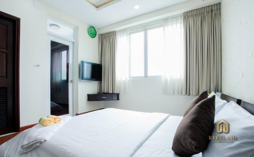Phòng ngủ căn hộ International Plaza