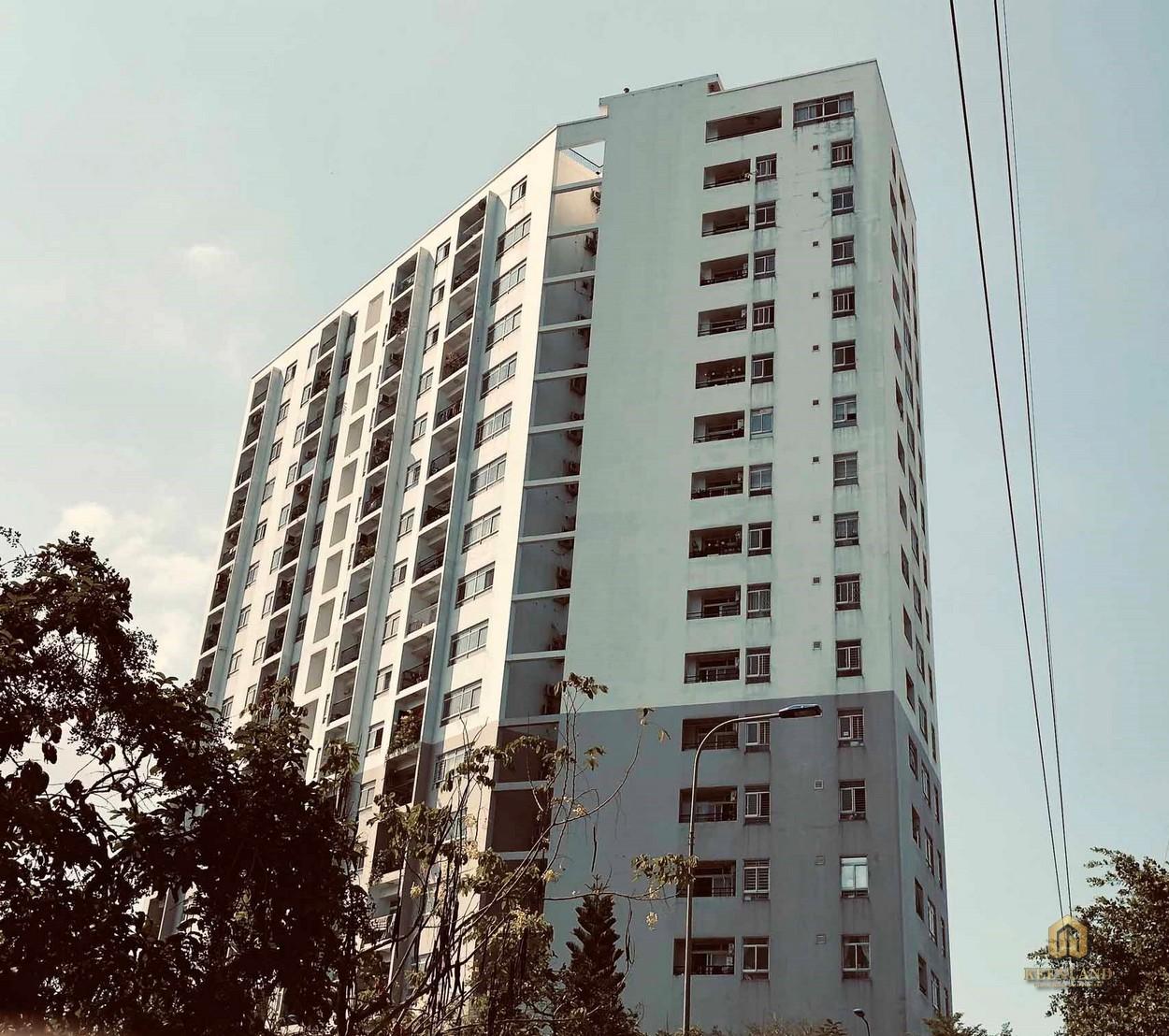 Hình ảnh thực tế mặt tiền dự án Ngọc Lan Apartment Quận 7