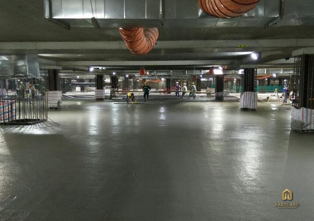 Hầm giữ xe tại chung cư The Grand Manhattan