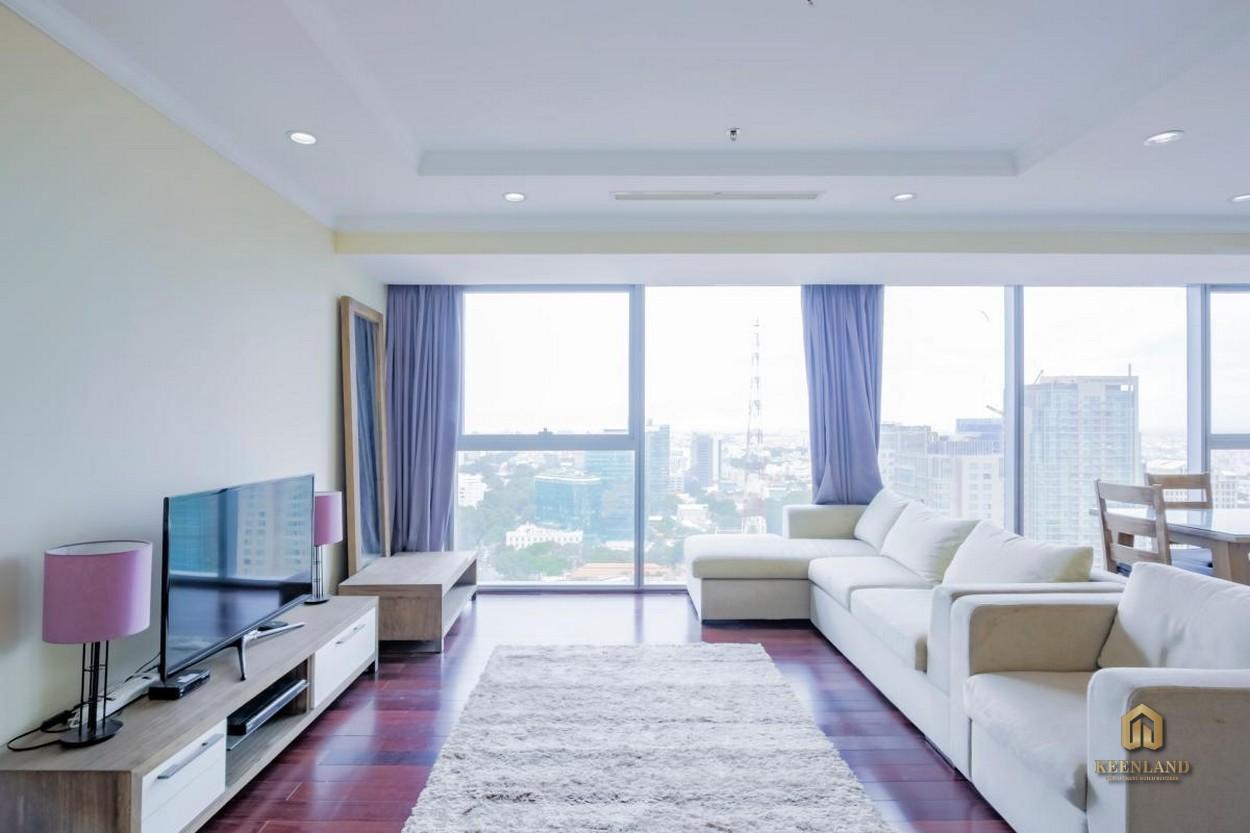 Phòng khách căn hộ Vinhomes Đồng Khởi